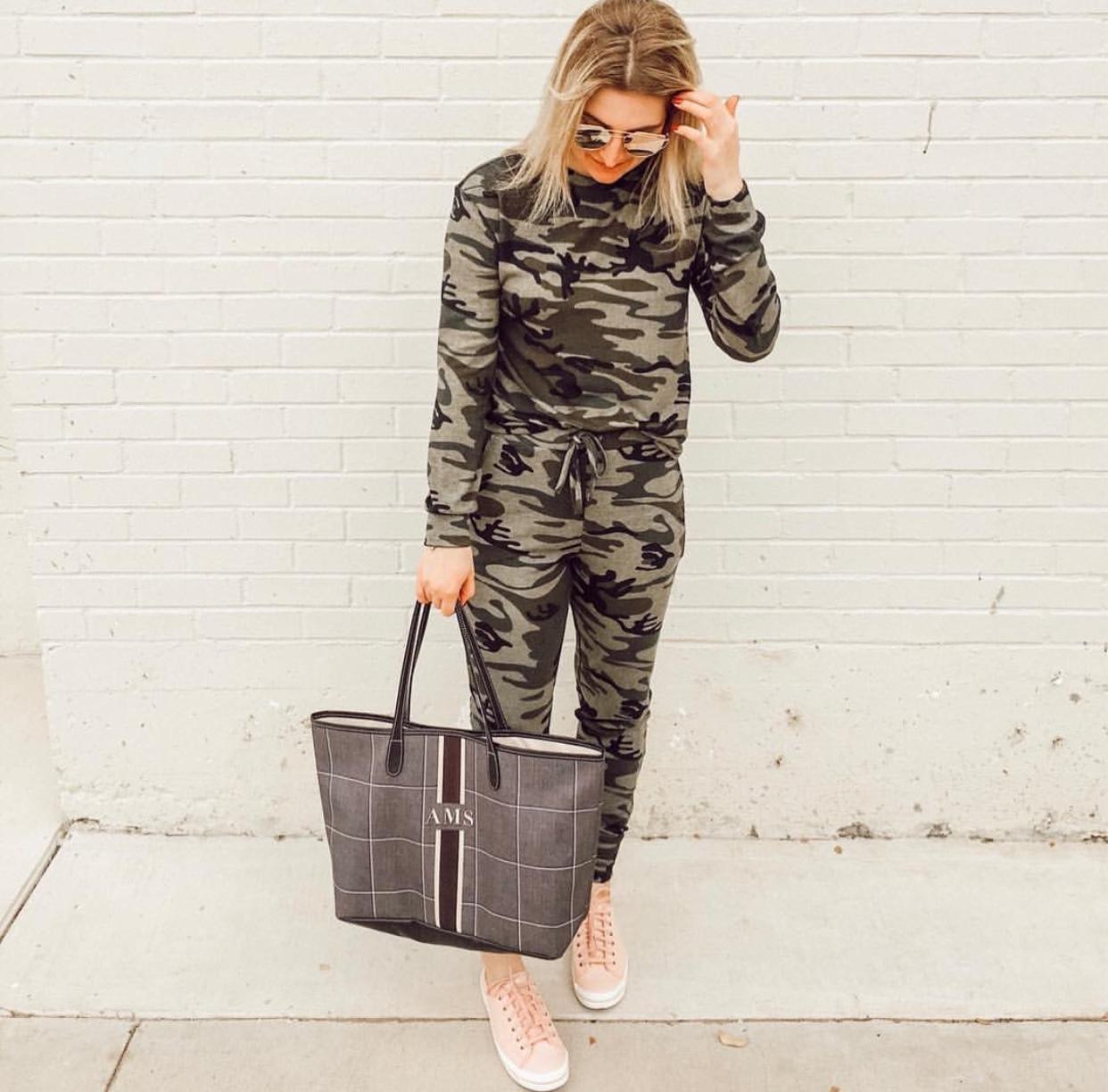 Camo lounge set | Audrey Madison Stowe a fashion and lifestyle blogger