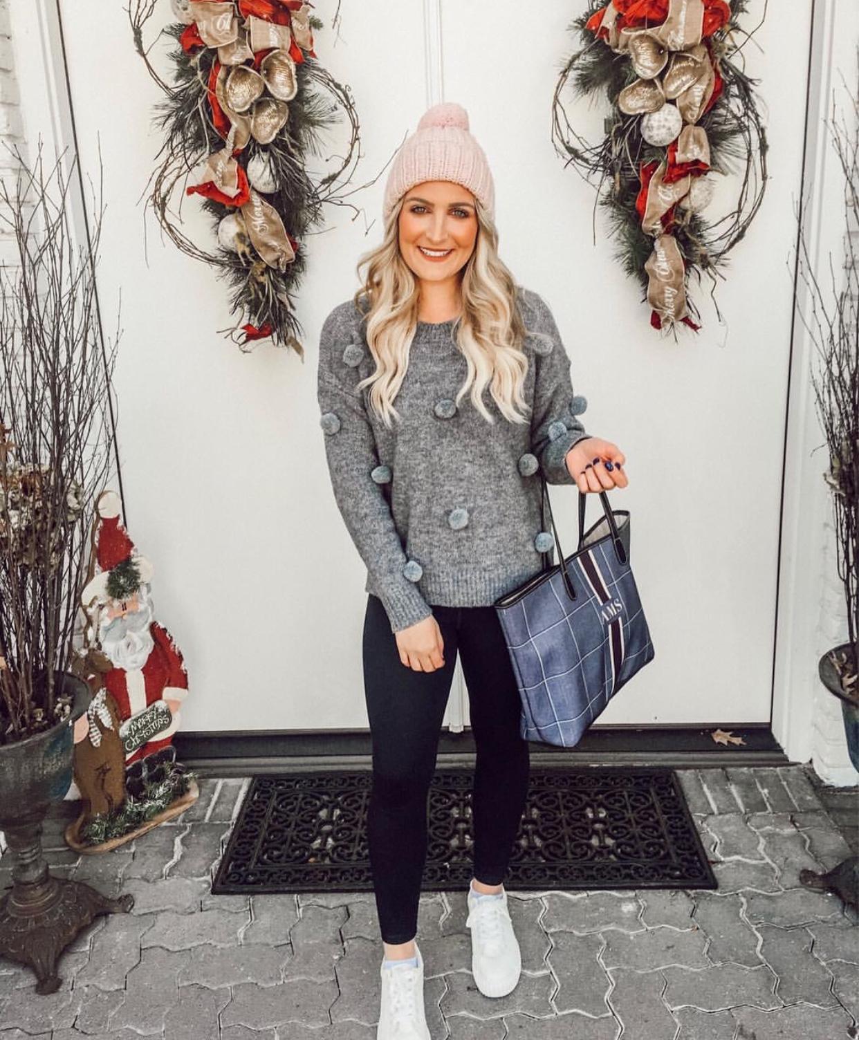 boohoo pom pom sweater | Winter Fashion | Audrey Madison Stowe a fashion and lifestyle blogger