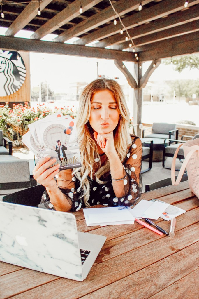 Texas Tech Graduation Announcements with Snapfish | Audrey Madison Stowe a fashion and lifestyle blogger