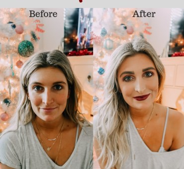 Holiday Makeup Tutorial | Christmas Party Makeup | Audrey Madison Stowe a fashion and lifestyle blogger