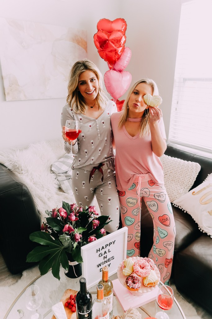 How to Throw a fun Galentine's Pajama Night In | Galentine's Day | Audrey Madison stowe a fashion and lifestyle blogger