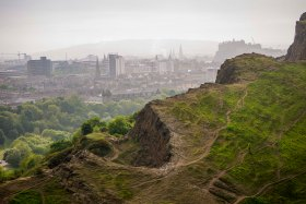 In the middle of Edinburgh rises a hill called Arthur's seat