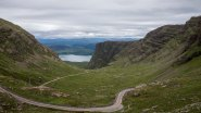 The windy road to Applecross, one of the most scenic route of the Highlands
