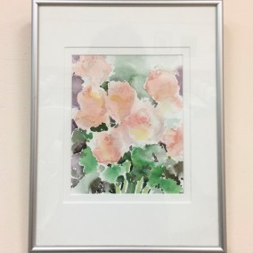 Roses watercolor by Nancy Whitermore