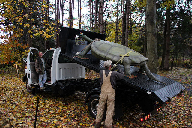 Audubon Receives Giant Turtle from Whitmire Outdoor Living