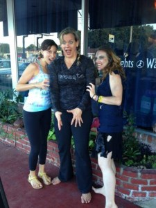Warrior One Power Yoga staff participates in APGD's Zombietoberfest. Pictured from left: Instructor Stefanie Harmon; Owner / Instructor Kim King-Zamoff; Zombie Yoga instructor / studio manager, Colure Caulfield