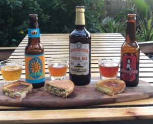 grilled cheese happy hour with craft beer