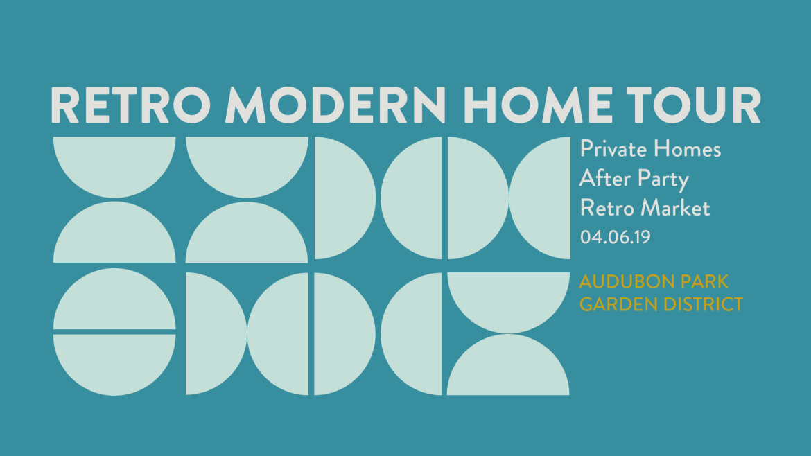 Retro Modern Home Tour 2018 in the Audubon Park Garden District in Orlando and Winter Park Florida