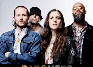 The members of the band baroness who are preforming in audubon park garden districts park ave cds
