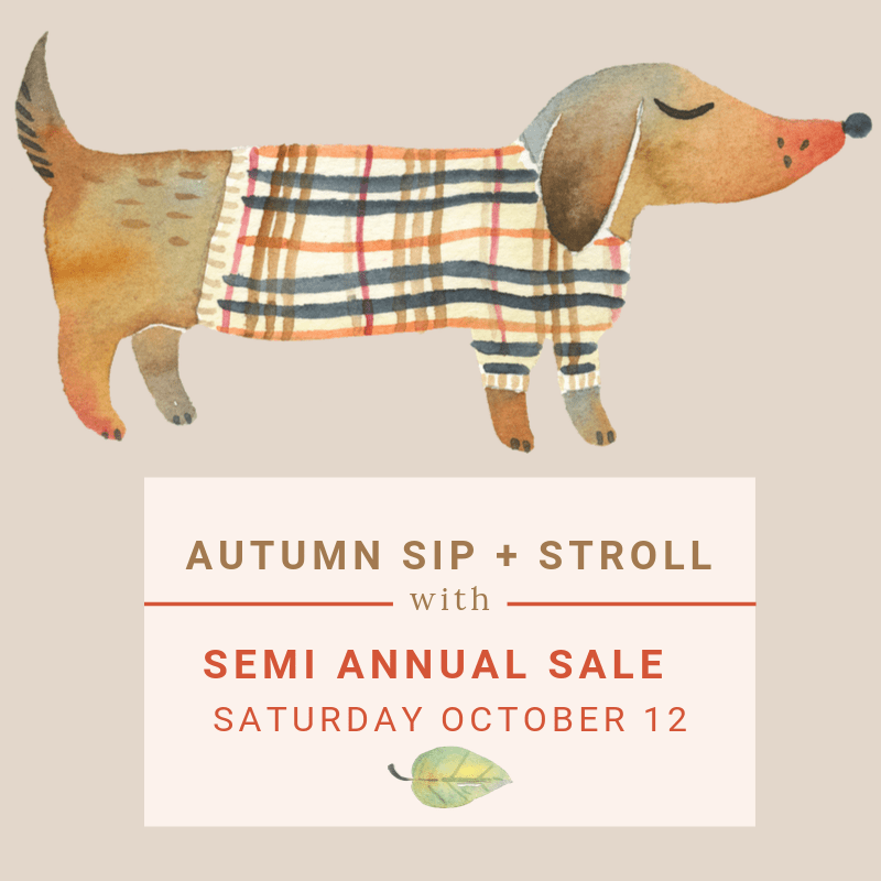 Autumn Sip and Stroll in the Audubon Park Garden District with district wide semi annual sale in Orlando Florida