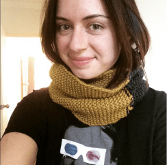 I finished a project! And then took it apart and started again (3x) Knitted Snood.