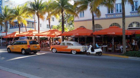 Art Deco Bauten in Miami Beach Ocean Drive