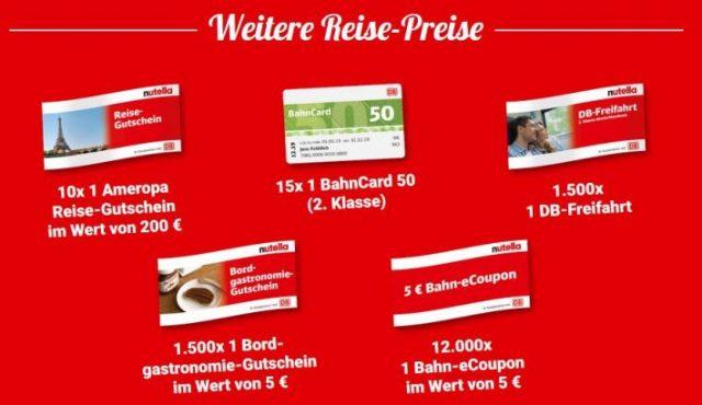 Preise Nutella Bahnsinn Bahn Gutschein
