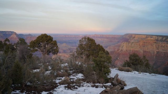Grand Canyon Schnee