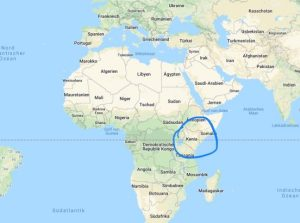 Kenia liegt in Ostafrika