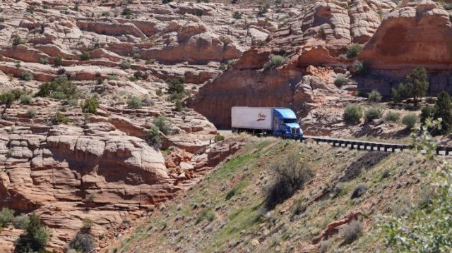 Umgebung im Glen Canyon - rote Berge in Arizona
