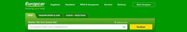 Bis zu 30 % Rabatt bei Europcar in Europa – sparen und Meilen sammeln