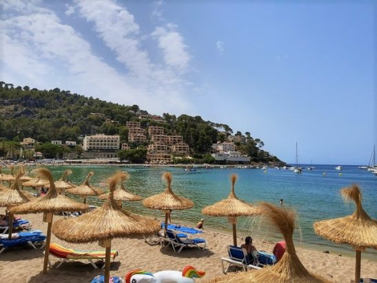 Strand in Soller Mallorca Spanien