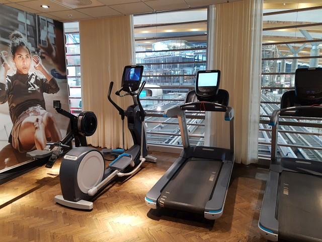 In der SAS Business Lounge Oslo gibt es einen Fittnessbereich