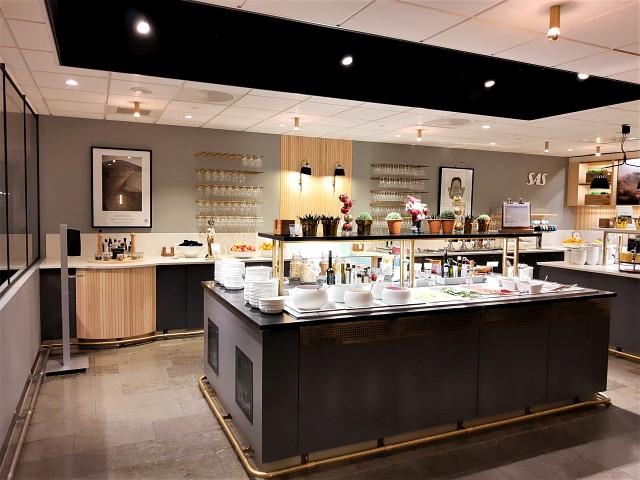 Buffet in der SAS Gold Lounge Oslo