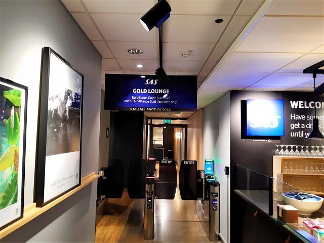 Zugang zur SAS Gold Lounge Oslo