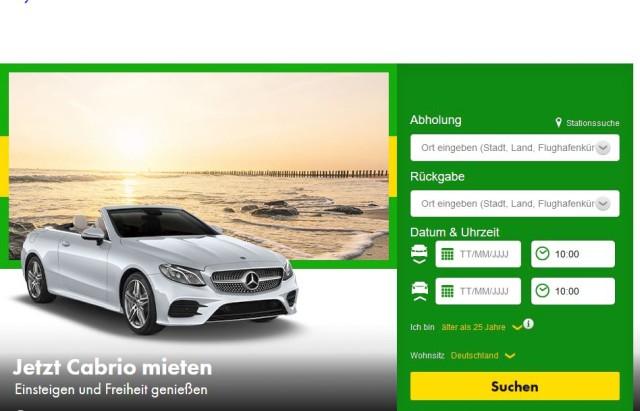 Vorteile der Amex Platinum bei Europcar