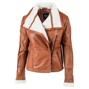 Denise Fur Trim Leather Jacket