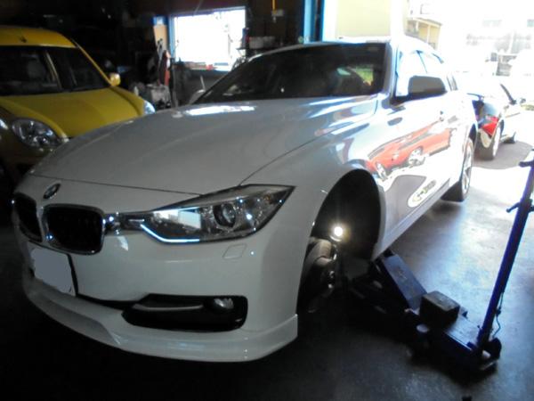 BMW 320d ブレーキパッド&ローター交換