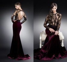 Backless-Evening-Dress-See-Through-Black-Lace-Long-Sleeves-Evening-font-b-Gowns-b-font-font