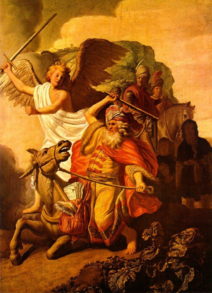 Balaam et son âne Rembrandt