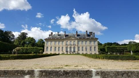 Domaine Villarceaux vue chateau du Haut