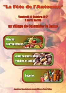 affiche fete de l'automne 2017 colombier le jeune