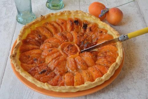Tarte-abricots-lavande