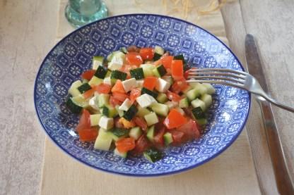 salade courgette tomate feta