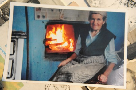 Saveta in front of her Oven