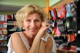 Magda in her shop