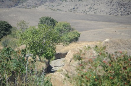 Schützengraben nahe Aserbaidschan