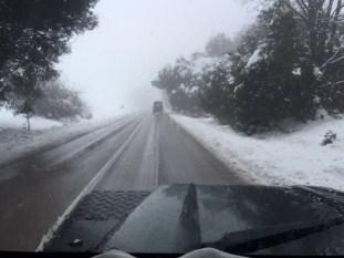 Schnee bei Azrou