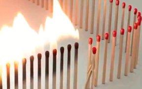 video de fosforos distancia social