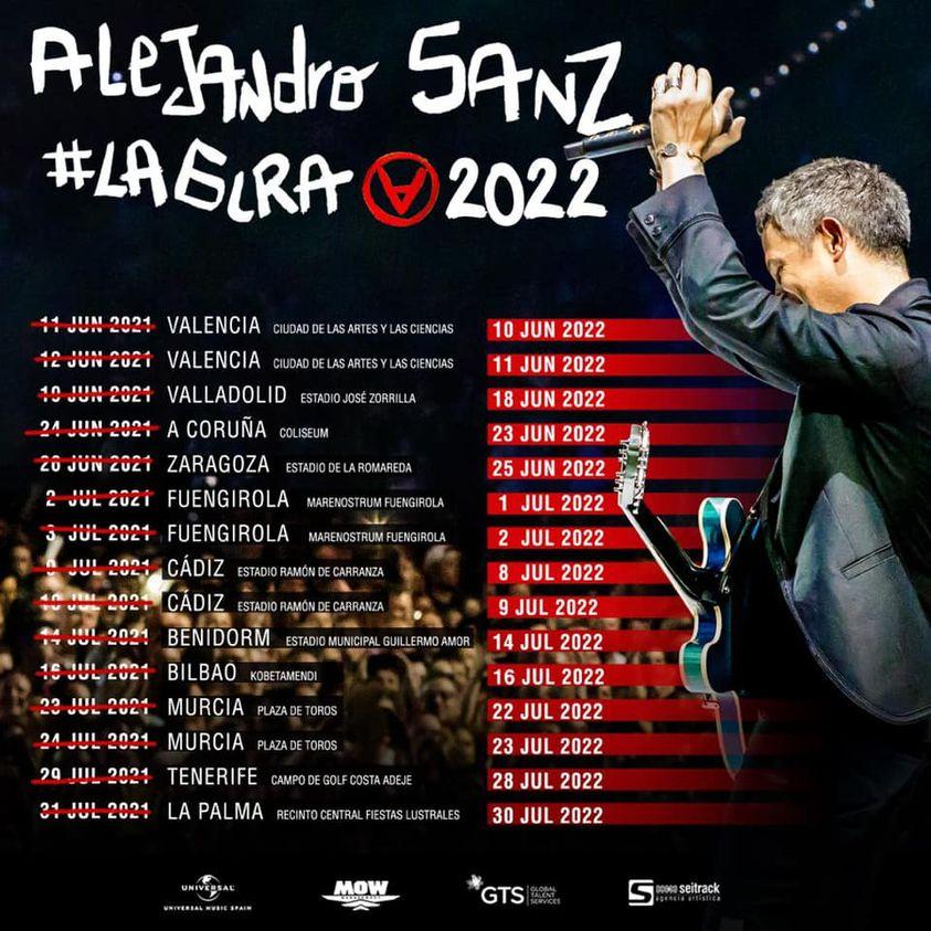 gira 2022 alejandro sanz españa