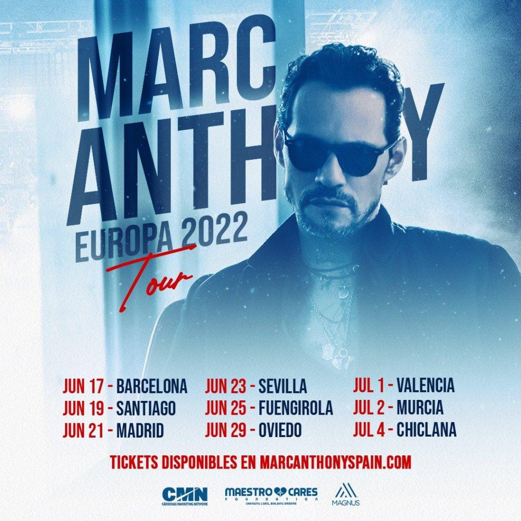 Tour 2022 marc Anthony España