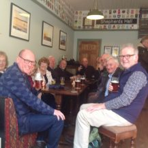 The Beer Appreciation Group enjoying their venue