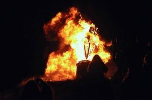 Burning the Clavie, Burghead, Scotland