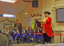 Town Crier making the Lancashire Day Proclamation