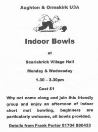 Indoor Bowls is inviting new members.