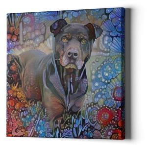 AugiDog Pitbull Custom Canvas