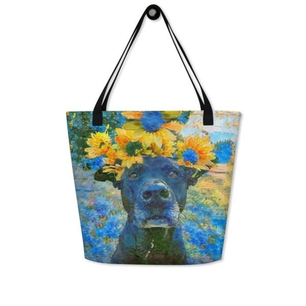 AugiDog Sunflower Tote Bag