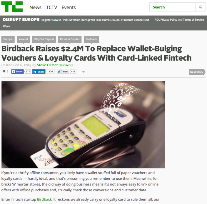 Birdback TechCrunch