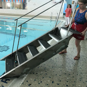 waynesboro ymca pool steps