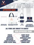 uva clear bag policy